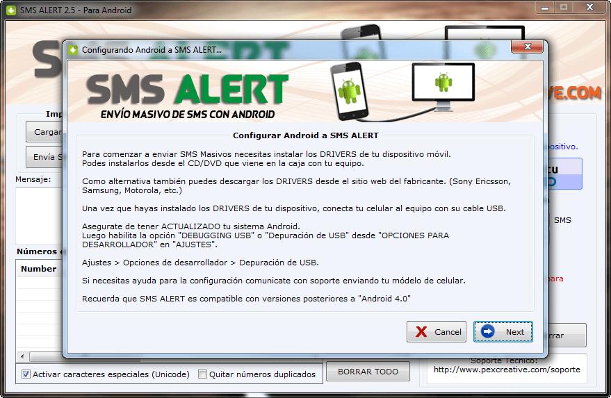 Enviar SMS Masivos con Android