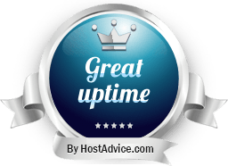 HostAdvice Great Uptime Award for Pex Creative